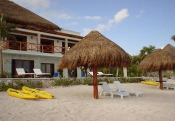 Luxury Beachfront Bed & Breakfast Villa, Mayan Riviera, Mexico