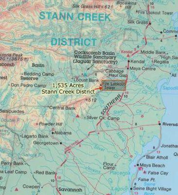 1500+ Acres in Stan Creek District, Belize