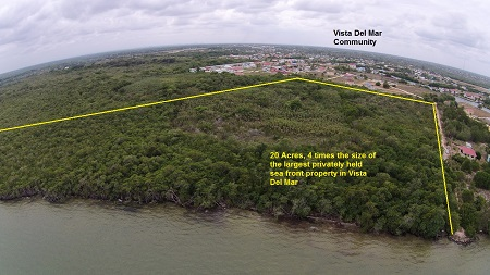 20 Acres Sea Front Close to International Airport, Belize