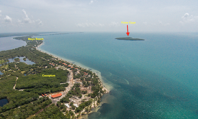 False Caye - Aerial - cp