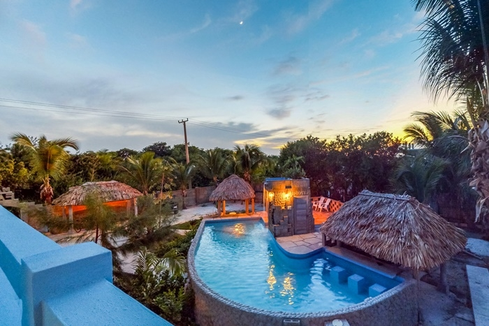 Belize Boutique Hotel Waterfall Pool Swim-Up Bar