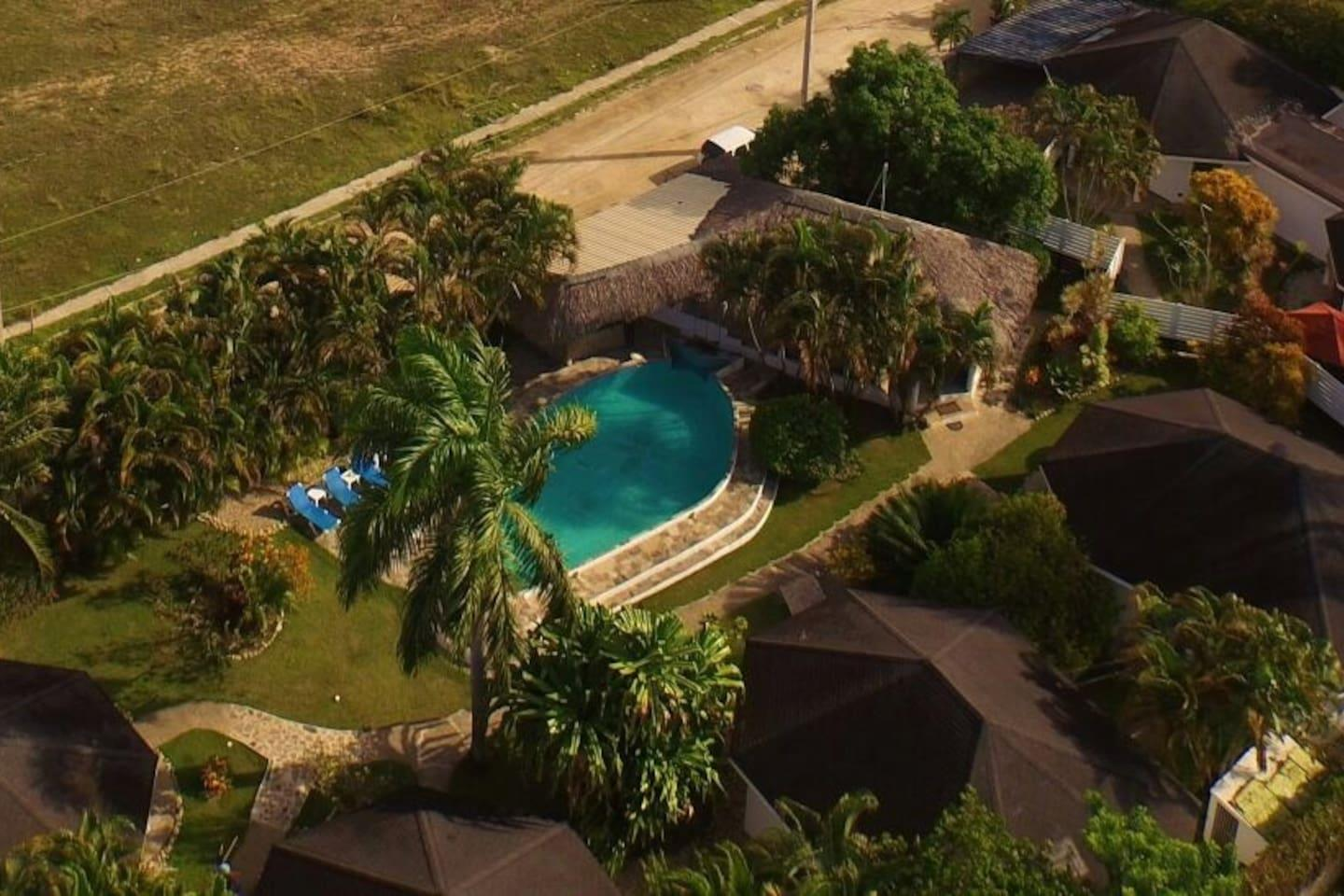 Tropical Resort with 6 Bungalows for Sale in Cabarete